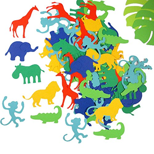 Jungle Animals Confetti, Bluegarlic Paper Home Table Decorations Children Birthday Party Supplies Party Favor Mix Colors 150-200 Pieces