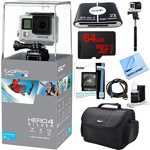 Camera Silver Action Bundle Accessories