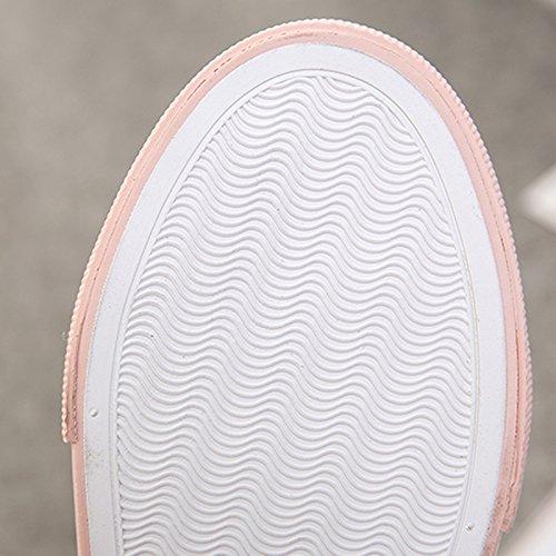 Tela Selvaggio Rosa Donna Sandales No Piede Lounger al Pantofole Scarpe Nuovo Traspirante Bianche Mezza di Estiva Stagione Scarpe Stile Heel HrH4ZYq