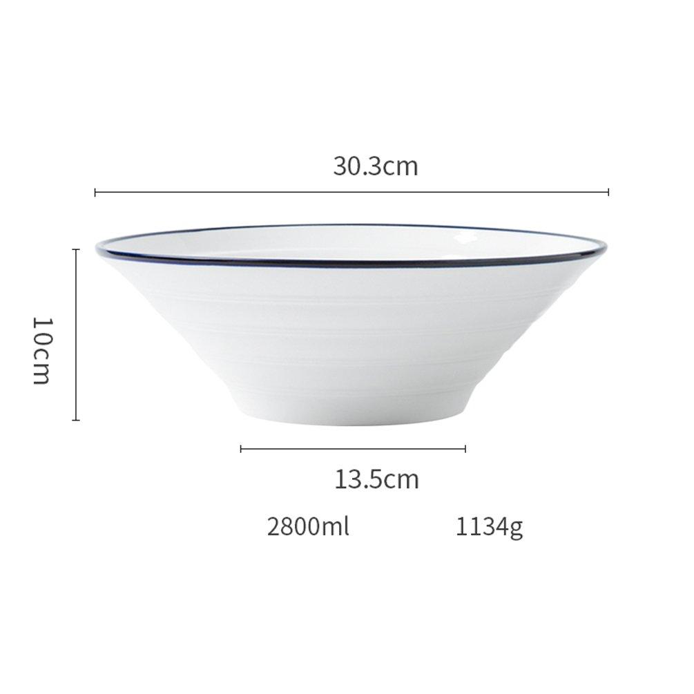LXY Kreatives Keramisches Japanisches Reisschüsselfleisch Ramen Schüssel Haupthotelgroßhandelsfarben-Fadensuppenschüsselschüssel Schüssel (größe : 30.3  10cm)