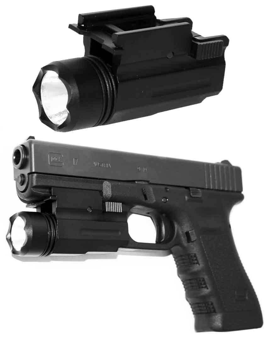 Trinity Flashlight for Glock Gen 3 & 4 Full Size & Compact 17 19 20 21 22  23 37