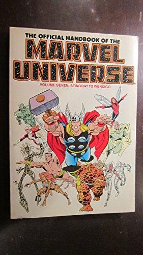 The Official Handbook of the Marvel Universe: Stingray to Wendigo