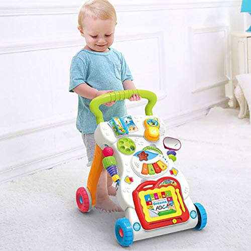 XICHENG Baby Walker Multi-Function Adjustable Speed Walker Prevent O-Legged Children's Toy Trolley Suitable for 0 Years Old 1 Year Old 2 Years Old Baby