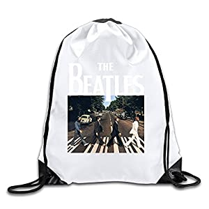 Runy Custom The Beatles Band Adjustable String Gym Backpack White