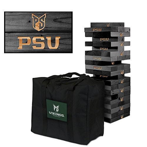 NCAA Portland State Vikings Portland University Onyx Stained Giant Wooden Tumble Tower Game, Multicolor, One Size by Victory Tailgate