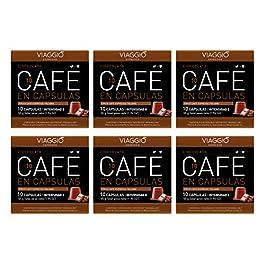 Viaggio Espresso Cápsulas de café compatibles con máquinas Nespresso Chocolate (60 Cápsulas)