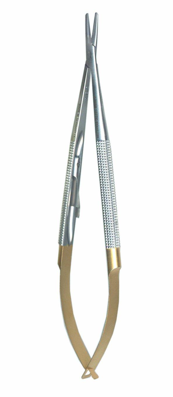 A. Titan 187TC Straight, Round Handle, Castro Viejo Needle Holder