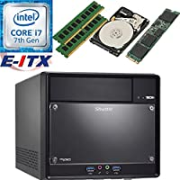 Shuttle SH110R4 Intel Core i7-7700 (Kaby Lake) XPC Cube System , 32GB Dual Channel DDR4, 120GB M.2 SSD, 1TB HDD, DVD RW, WiFi, Bluetooth, Pre-Assembled and Tested by E-ITX