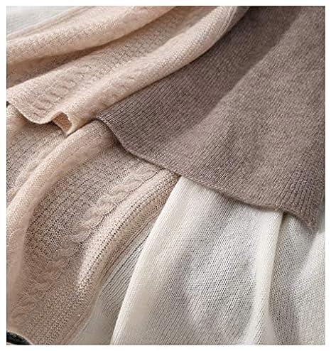 7e26863f2ed7f Prettystern - écharpe etole en cachemire pour les femmes chaudes et câlin  doux crème trèfle taupe tricoté K01  Amazon.fr  Vêtements et accessoires