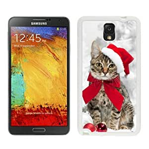 2014 Latest Christmas Cat White Samsung Galaxy Note 3 Case 31