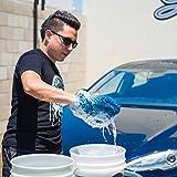 Chemical Guys MIC497 Blue Microfiber Wash Mitt, 1 Pack