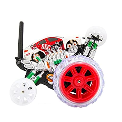 Cyclone Max Extreme Remote Controlled SUV Monster Car with Acrobatic 360 Rolling Rotation Tumble Landing Wheels (Red)