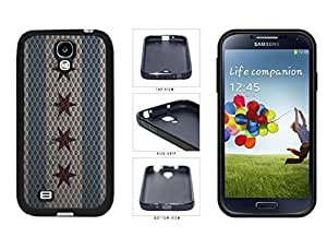 Metal Chicago Flag TPU RUBBER SILICONE Phone Case Back Cover Samsung Galaxy S4 I9500
