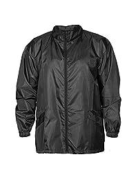 Windbreaker Rain Jacket Hooded - Full Zip - Adjustable - Packable In Small Bag