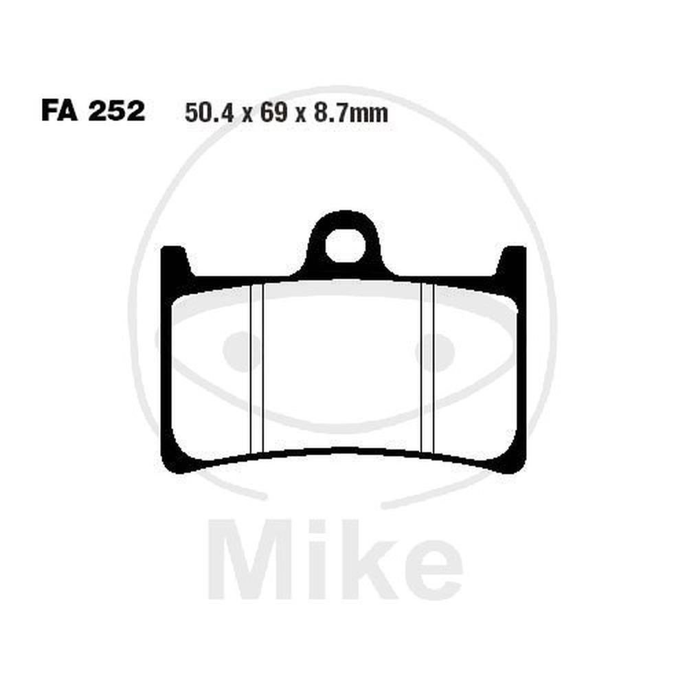 YAMAHA FZS 1000 Fazer 01-05 EBC Sintered Front Brake Pads FA252HH