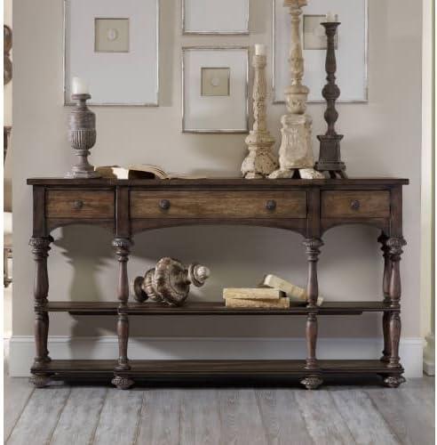 Hooker Furniture Rhapsody Thin Console Table in Rustic Walnut