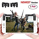 PUBG Mobile Game Controller Sensitive Shoot and Aim Keys L1R1 Trigger Buttons for PUBG/Knives Out/Rules of Survival, Support Both Android and IOS System (1 Pair)