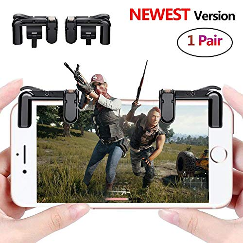 Pair Knives - PUBG Mobile Game Controller Sensitive Shoot and Aim Keys L1R1 Trigger Buttons for PUBG/Knives Out/Rules of Survival, Support Both Android and IOS System (1 Pair)