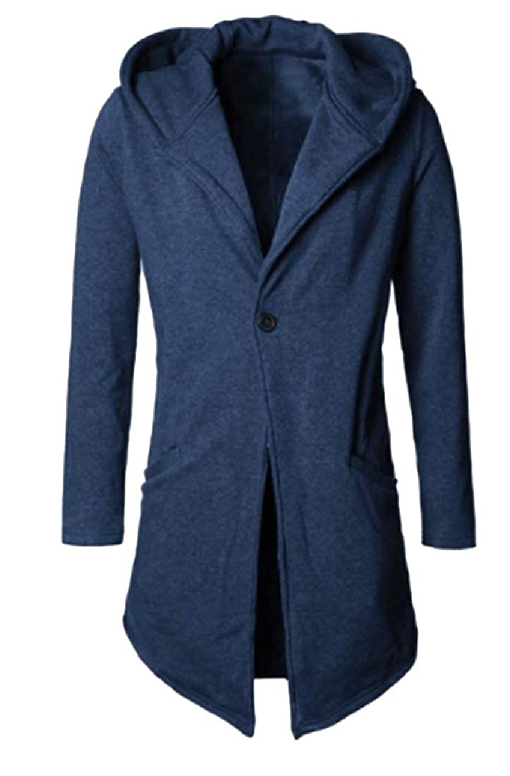 Zimaes-Men Slim Casual One Button Sportstyle Trench Coat Jacket