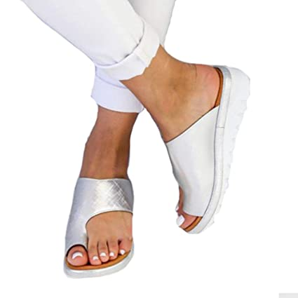 Amazon.com: Zoomarlous 2019 New Women Comfy Platform Sandal Shoes Summer Beach Travel Shoes Fashion Sandals Comfortable Ladies Shoes(Silver,40): Garden & ...