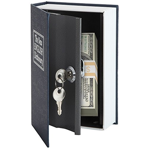 Home-X Dictionary Diversion Book Safe with Key Lock, Metal