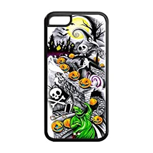 Mystic Zone The Nightmare before Christmas Jack Skellington Back Cover Case for Apple iphone 5c - MZiphone 5c01061