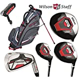 Wilson Prostaff Steel Shafted HDX Irons & Graphite Shafted HDX Woods Super Deluxe Mens Complete Golf Club Set & Nexus Stand Bag Mens Right Hand (Limited Edition, Only available from The Golf Store 4u Ltd)