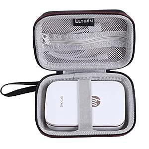 LTGEM EVA Estuche duro Cubrir Transporte de viajes Case para HP Sprocket - Impresora fotográfica portátil (impresión sin tinta, Bluetooth, 5 x 7,6 cm ...