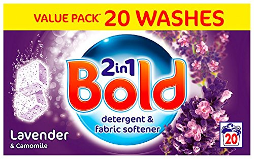 Bold Lavender and Camomile Laundry Detergent 20 Tablets (Pack of 4) by GroceryLand