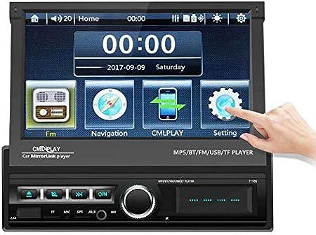 Radio Coche Bluetooth, Radio FM de Coche Podofo GPS Autoradio con Pantalla Táctil HD Motorizada de 7