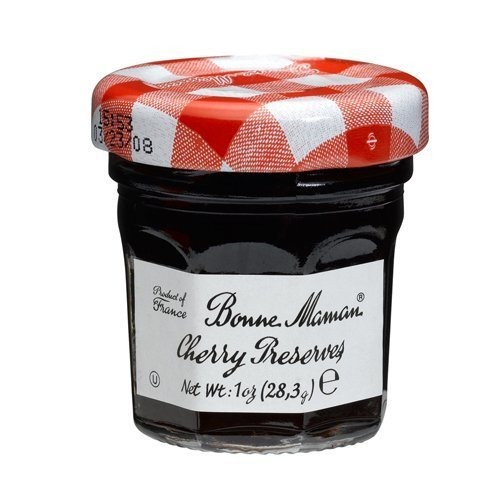 Bonne Maman Red Cherry Preserve Mini Jars - 1 oz x 15 pcs Kosher by Caviar Line