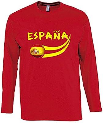 Supportershop – Camiseta para Hombre L/S Rojo Fútbol España, T ...