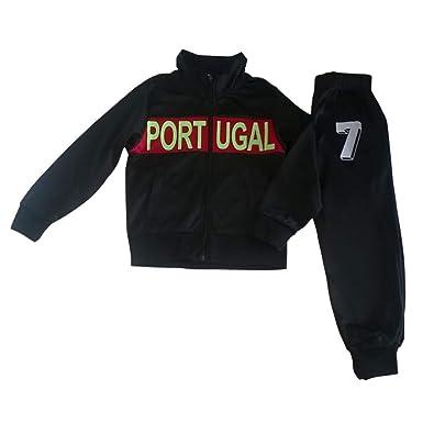 313d9fbafc99a Jogging survêtement Enfant Portugal Noir Taille de 4 à 12 Ans - 8 ...