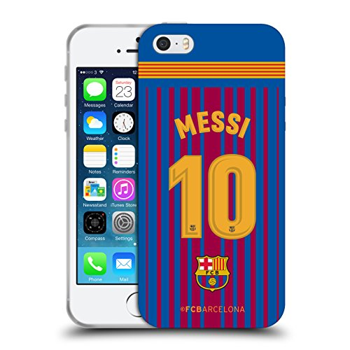 Official FC Barcelona Messi 2017/18 Players Home Kit Group 1 Soft Gel Case for Apple iPhone 5 iPhone 5s iPhone SE