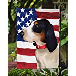 Caroline's Treasures CK6407GF Ariegeois Dog American Flag Flag Garden Size, Small, Multicolor 6
