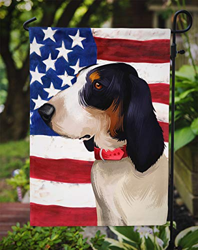 Caroline's Treasures CK6407GF Ariegeois Dog American Flag Flag Garden Size, Small, Multicolor 3