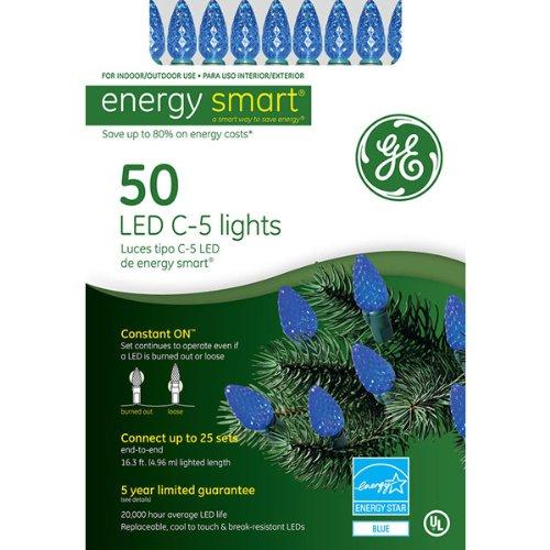 Ge Led Crystal Miniature Lights Blue - 4