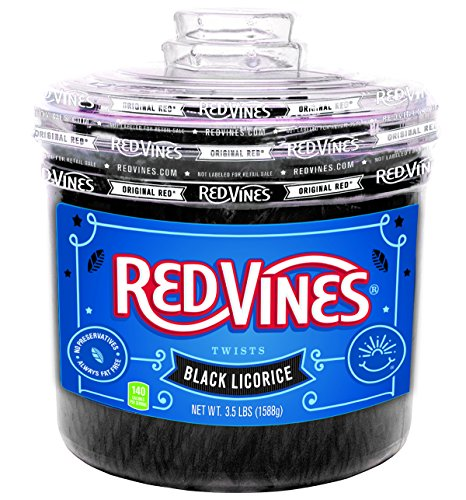 Red Vines Black Licorice Twists, 3.5LB Jar