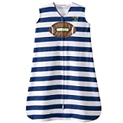 Halo Football Navy Blue Stripe Sleepsack Wearable Baby Blanket, Small