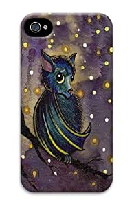 Bat PC Case Cover for iPhone 4 and iPhone 4S 3D