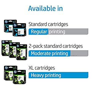 HP 63XL Ink | 1 Black Ink Cartridge | Plus $5 Instant Ink Prepaid Code