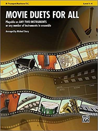 Divers Auteurs - Movie Duets For All: Bb Trumpet/baritone T.c., Level 1-4