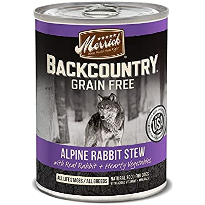 Merrick Backcountry Alpine Rabbit Stew Grain Free Wet Dog Food, Case Of 12, 12.7 Oz.