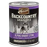 Merrick Backcountry Alpine Rabbit Stew Grain Free Wet Dog Food, Case of 12, 12.7 oz.