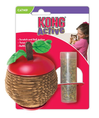 KONG Scratch Apple for Cats, Catnip Toy, My Pet Supplies