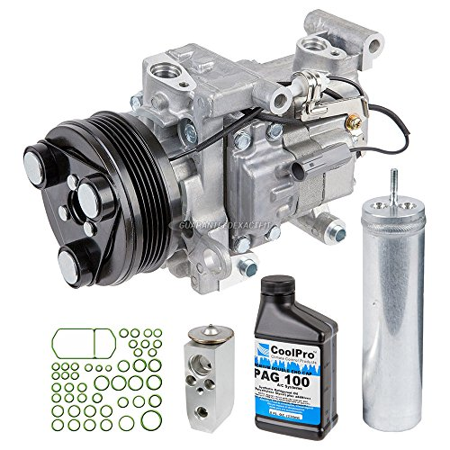 AC Compressor w/A/C Repair Kit For Mazda 3 & 5 w/ 5-Groove Pulley - BuyAutoParts 60-81160RK NEW ()