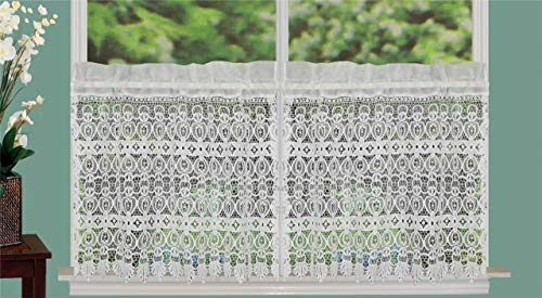 Creative Linens Knitted Lace Kitchen Curtain 24