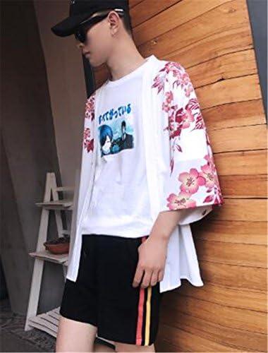 (グードコ) カップル服 羽織 カーディガン メンズ 七分袖 半袖 トップス シャツ 日式 プリント 梅 魚の柄 ゆったり カジュアル 日系