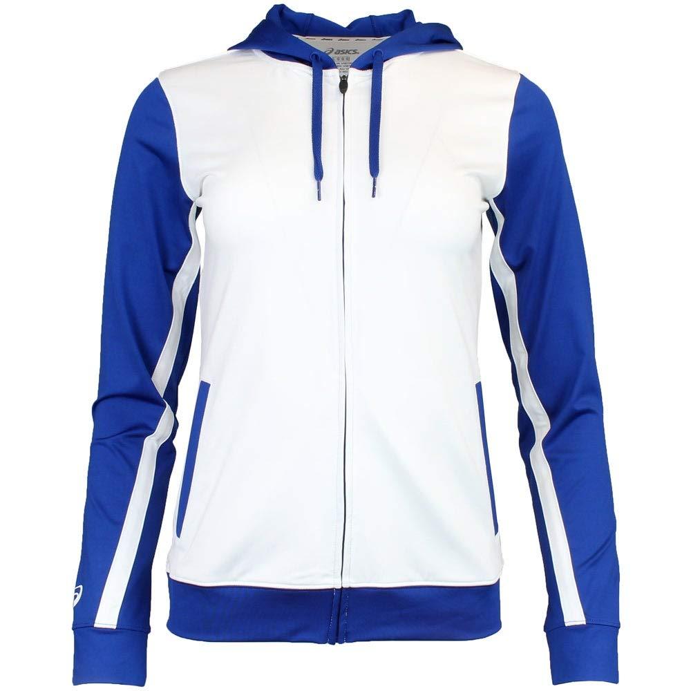 ASICS Jr. LANI Jacket, White/Royal, X-Large by ASICS