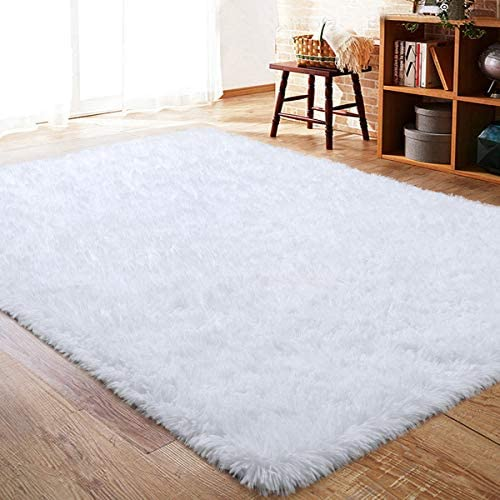 ISEAU Fluffy Rug Carpets Soft Shaggy Area Rug Indoor Floor Rug